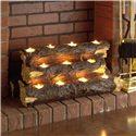 Southern Enterprises Fireplaces  Tennyson Plantation Oak Gel Fuel Fireplace w/Bookcases & Tealight Log - Resin Tealight Fireplace Log Included