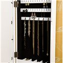 Southern Enterprises Jewelry Armoires White Photo Display Wall-Mount Jewelry Armoire - Detail of Earring Racks and Necklace Hooks