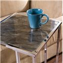 Southern Enterprises Occasional Tables Sofa Server Accent Table - Marble Table Top