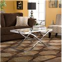 Southern Enterprises Vogue Vogue Metal and Glass Cocktail Table - Alternate View