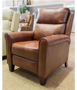 Southern Motion Pep Talk Leather Push Back Recliner