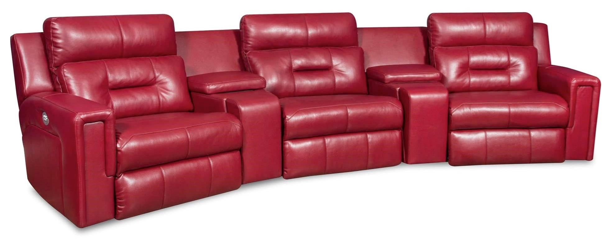 Southern Motion Excel Power Operated Theater Seating with 3 Seats - Item Number: 866-05P+45+90P+45+06P