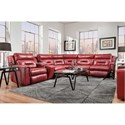 Southern Motion Excel Reclining Sectional Sofa with 5 Seats - Item Number: 866-07+46+84+92+08-263-11