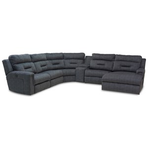 Five Seat Reclining Sectional with Chaise
