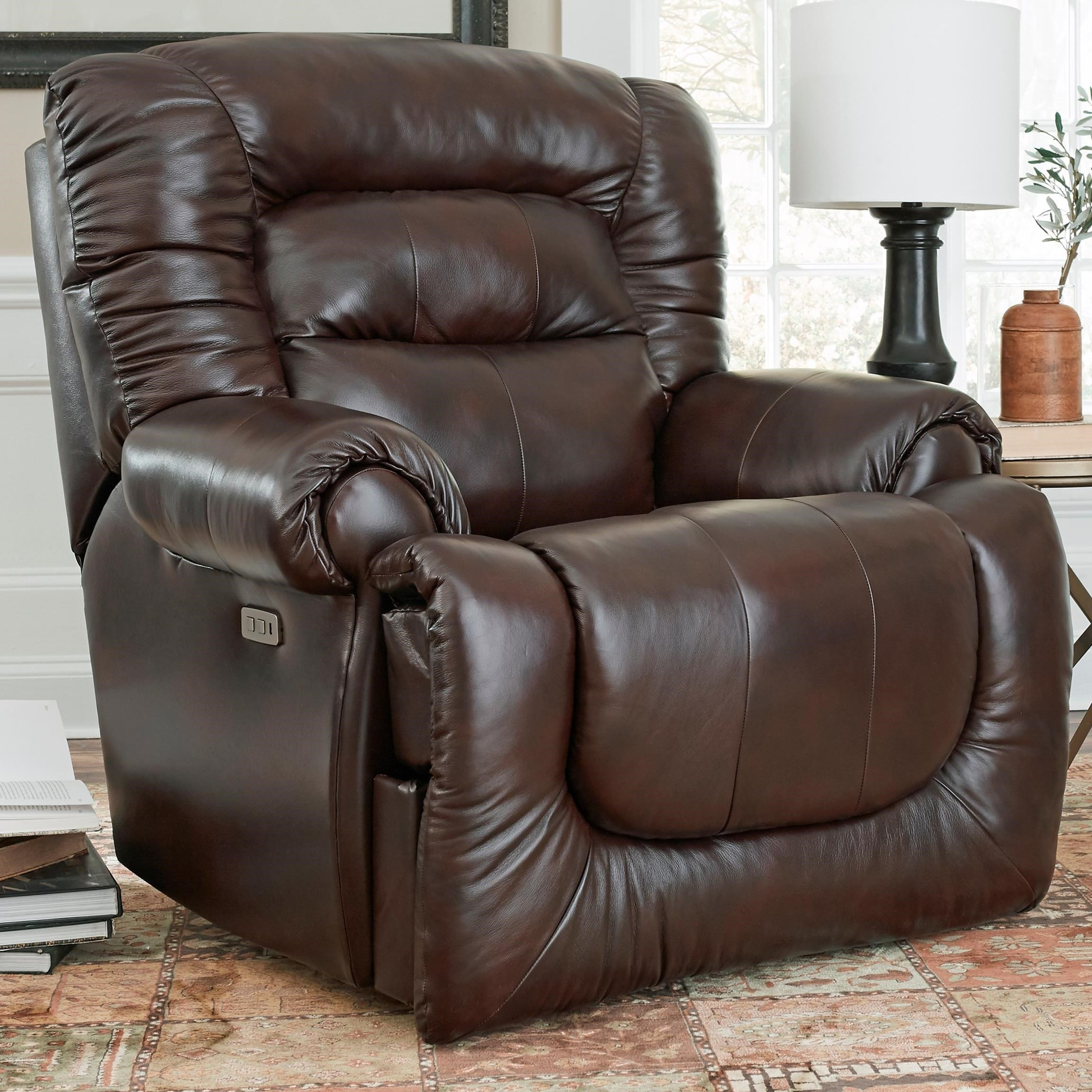All Star Pwr Headrest Big Man's Wall Hugger Recliner by Southern Motion at Home Furnishings Direct
