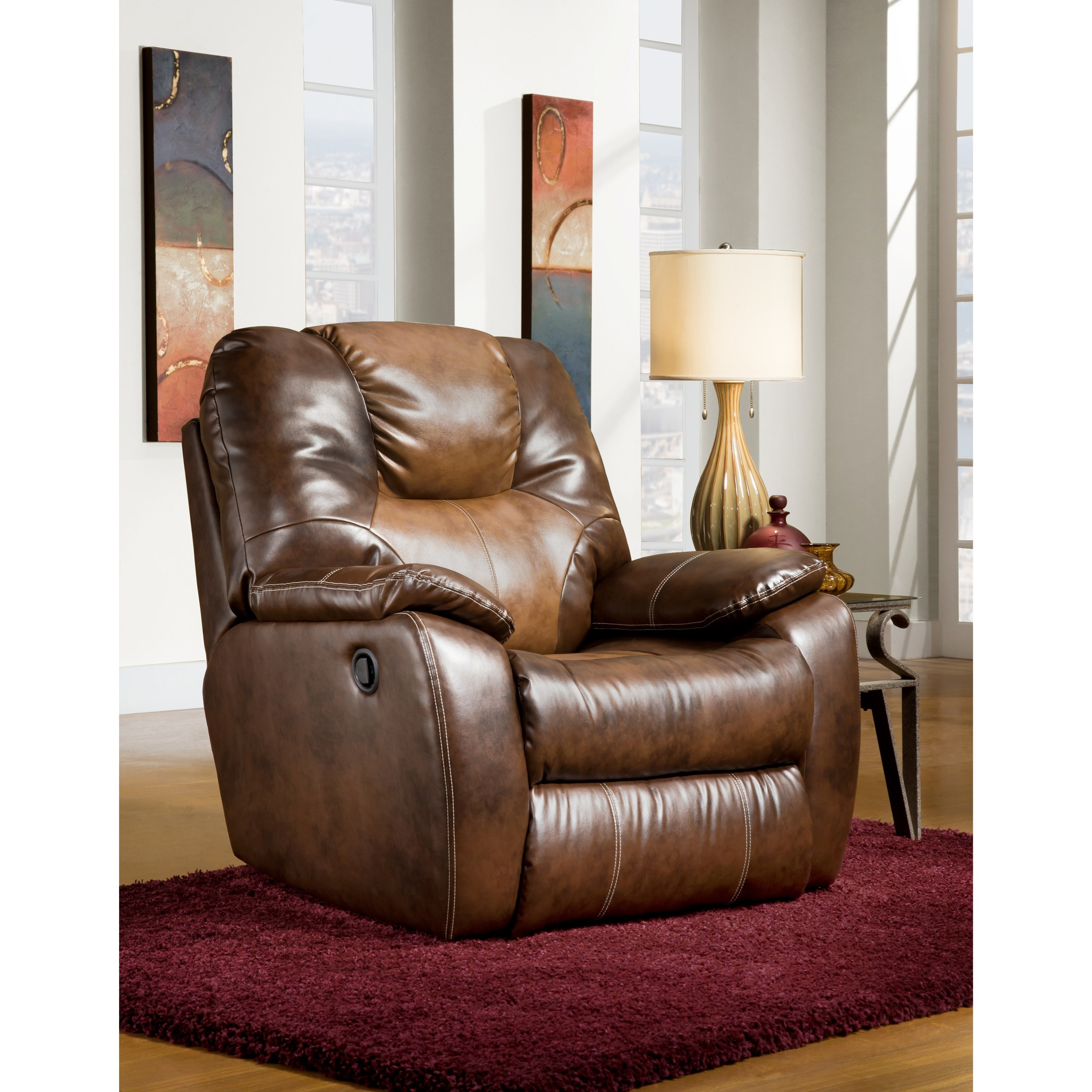 Avalon Swivel Rocker Recliner by Southern Motion at Sparks HomeStore