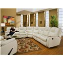 Design to Recline Avalon 3 Pc. Sectional - Item Number: 838-28+83+31