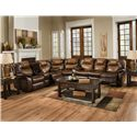 Design to Recline Avalon Three Piece Sectional Sofa - Sectional Shown May Not Represent Exact Features Indicated