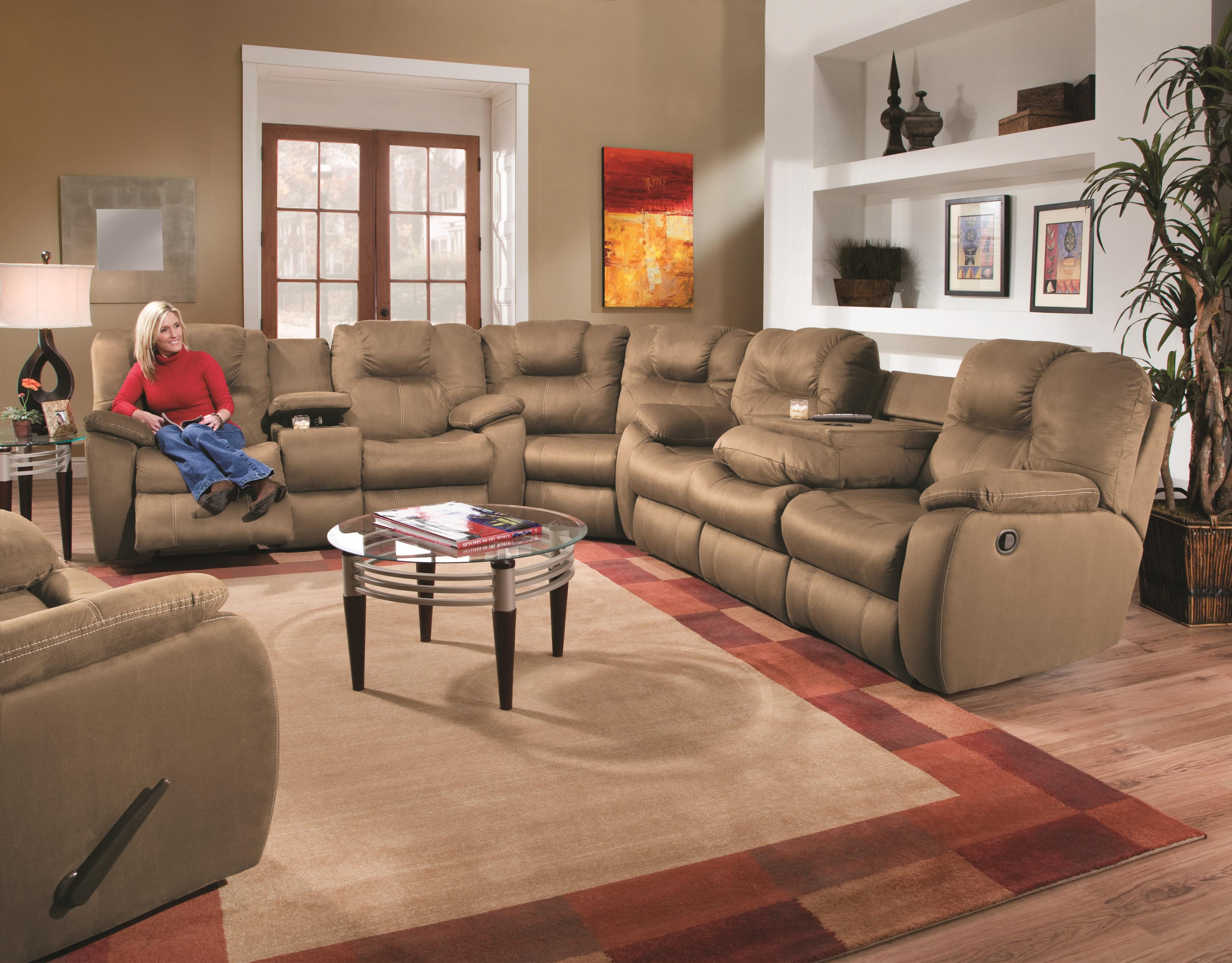 Southern Motion Avalon Three Piece Sectional Sofa With