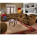 Southern Motion Avalon Three Piece Sectional Sofa with Drop Down Table - Sectional Shown May Not Represent Exact Features Indicated