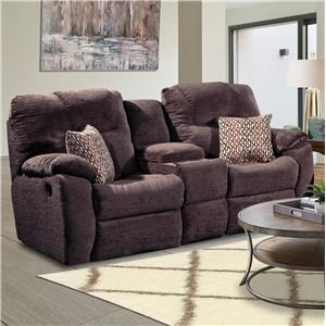 Southern Motion Avalon Double Reclining Loveseat with Console