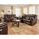 Southern Motion Avatar Double Reclining Power Headrest Console Sofa