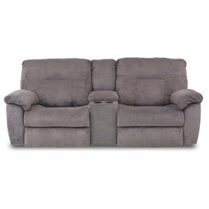 ComfortZone Big Shot Double Reclining Console Sofa