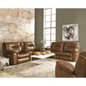 Southern Motion Big Shot Reclining Console Sofa - Recline Handle Shown May Differ From What is Indicated