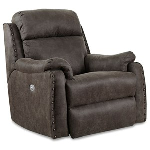 Southern Motion Blue Ribbon Rocker Recliner with Power Headrest
