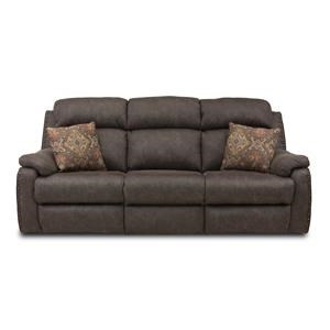 ComfortZone Blue Ribbon Dbl Recl Sofa w/ Pillows & Pwr Headrests