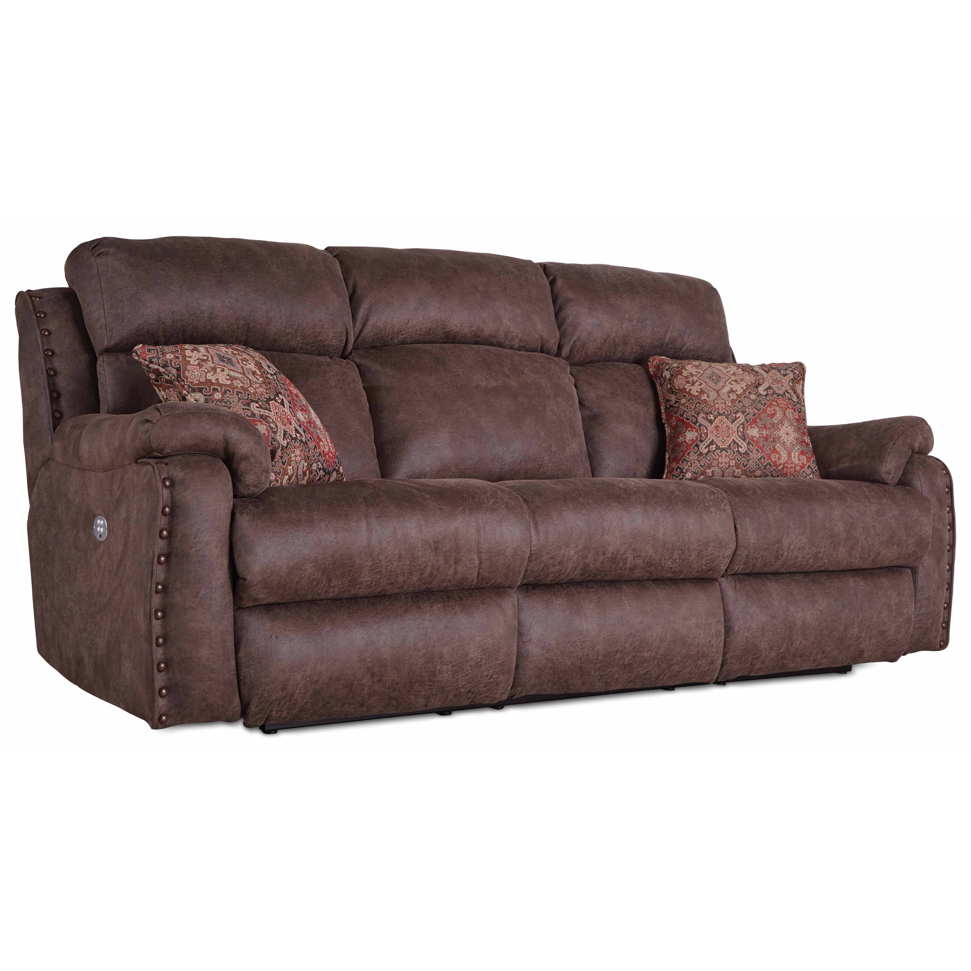 Dbl Recl Sofa w/ Pillows & Pwr Headrests