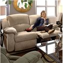 Design to Recline Cagney Powerized Double Reclining Loveseat with Pillow Arms  - Loveseat Shown May Not Represent Exact Features Indicated