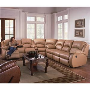 Design to Recline Cagney Sectional Sofa