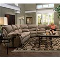 Southern Motion Cagney Powerized Double Reclining Sofa with Pillow Arms  - Shown as Sectional Component in Fabric Upholstery. Sofa Shown May Not Represent Exact Features Indicated.