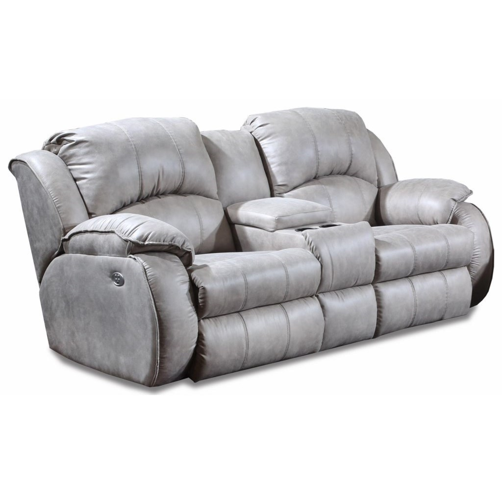 Cagney Power Reclining Console Sofa by Southern Motion at Turk Furniture