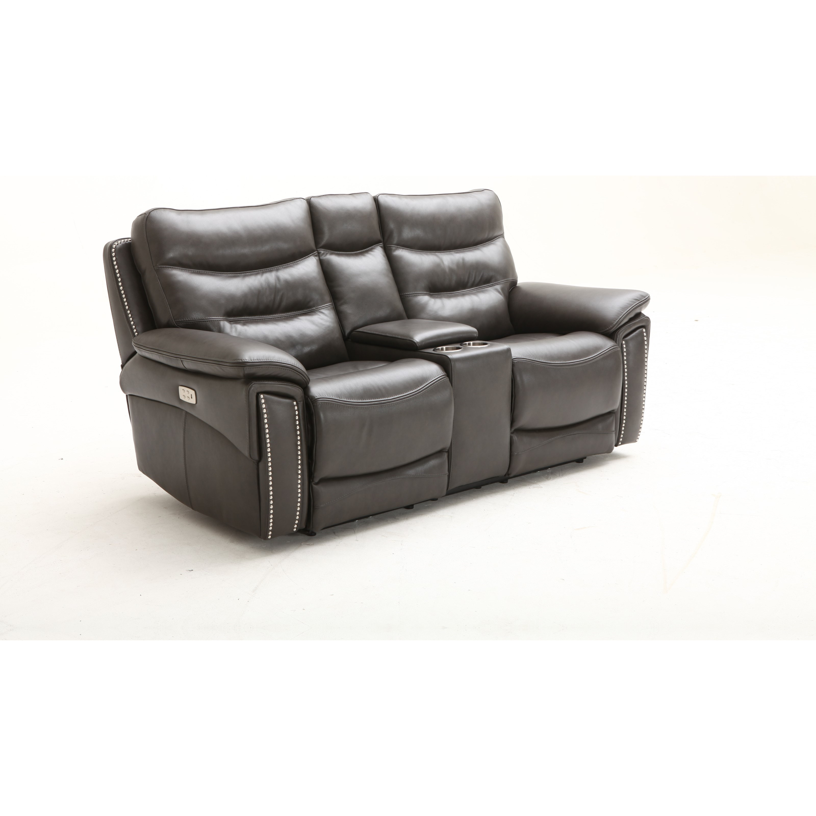 Power Headrest Console Loveseat