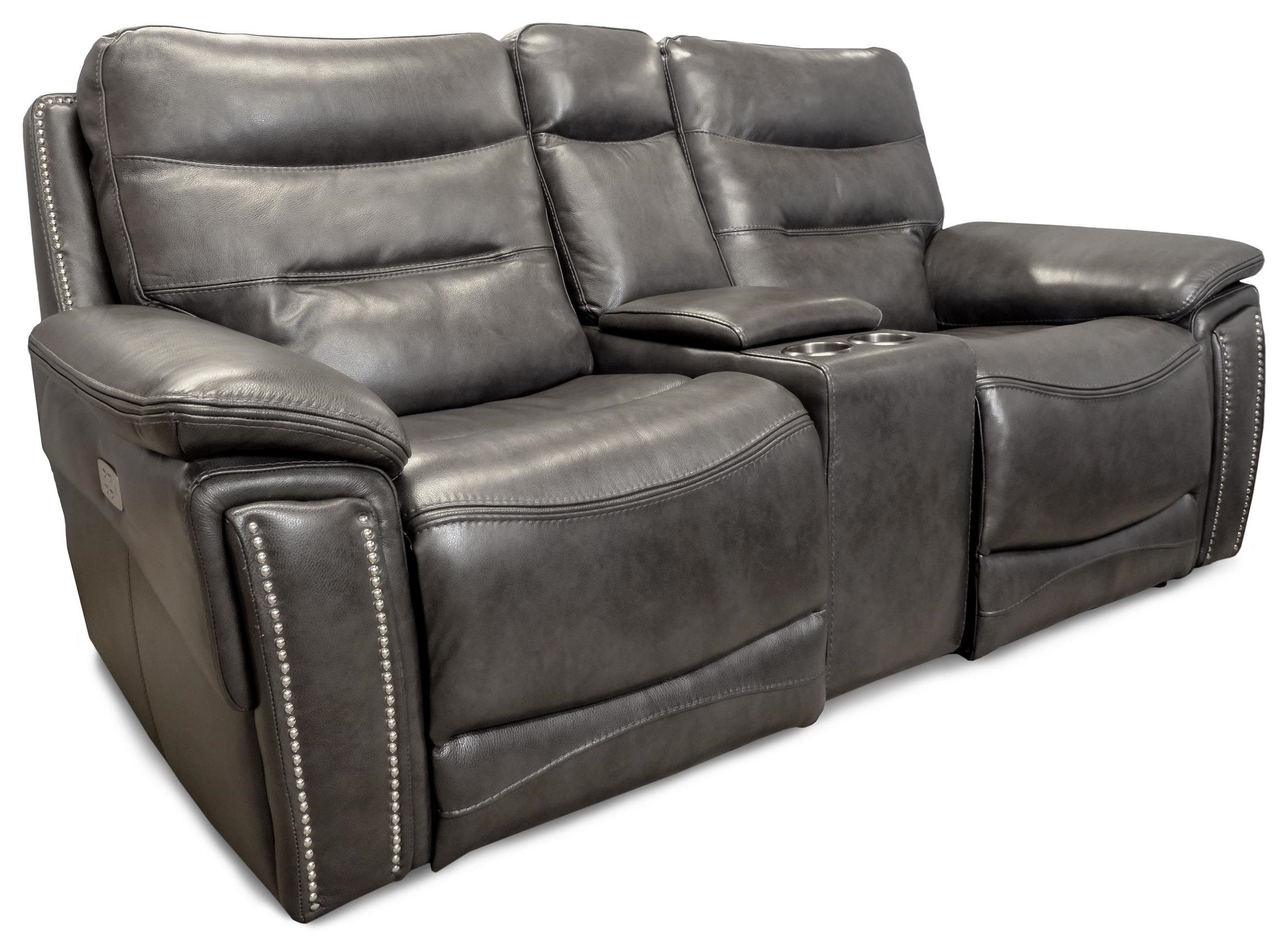 City Lights Power Headrest Console Loveseat by Design to Recline at Rotmans