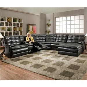 Southern Motion Comfortscapes  Large Partial Power Reclining Sectional Sofa
