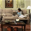 Southern Motion Continental 792 Reclining Console Sofa with Storage and Cupholders