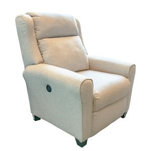 Southern Motion Cool Springs Beige Power High-Leg Recliner