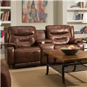 Design to Recline Crescent Reclining Console Sofa with Power Headrests - Item Number: 874-78P-906-21