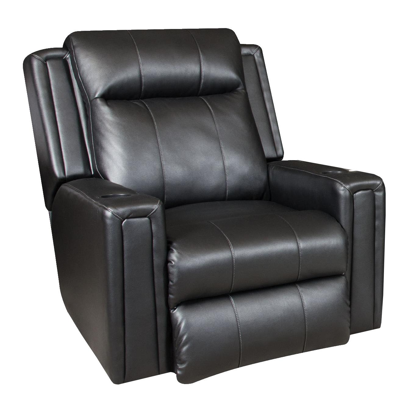Southern Motion Curve Wall Hugger Recliner with Power Headrest - Item Number: 6858P-205-13
