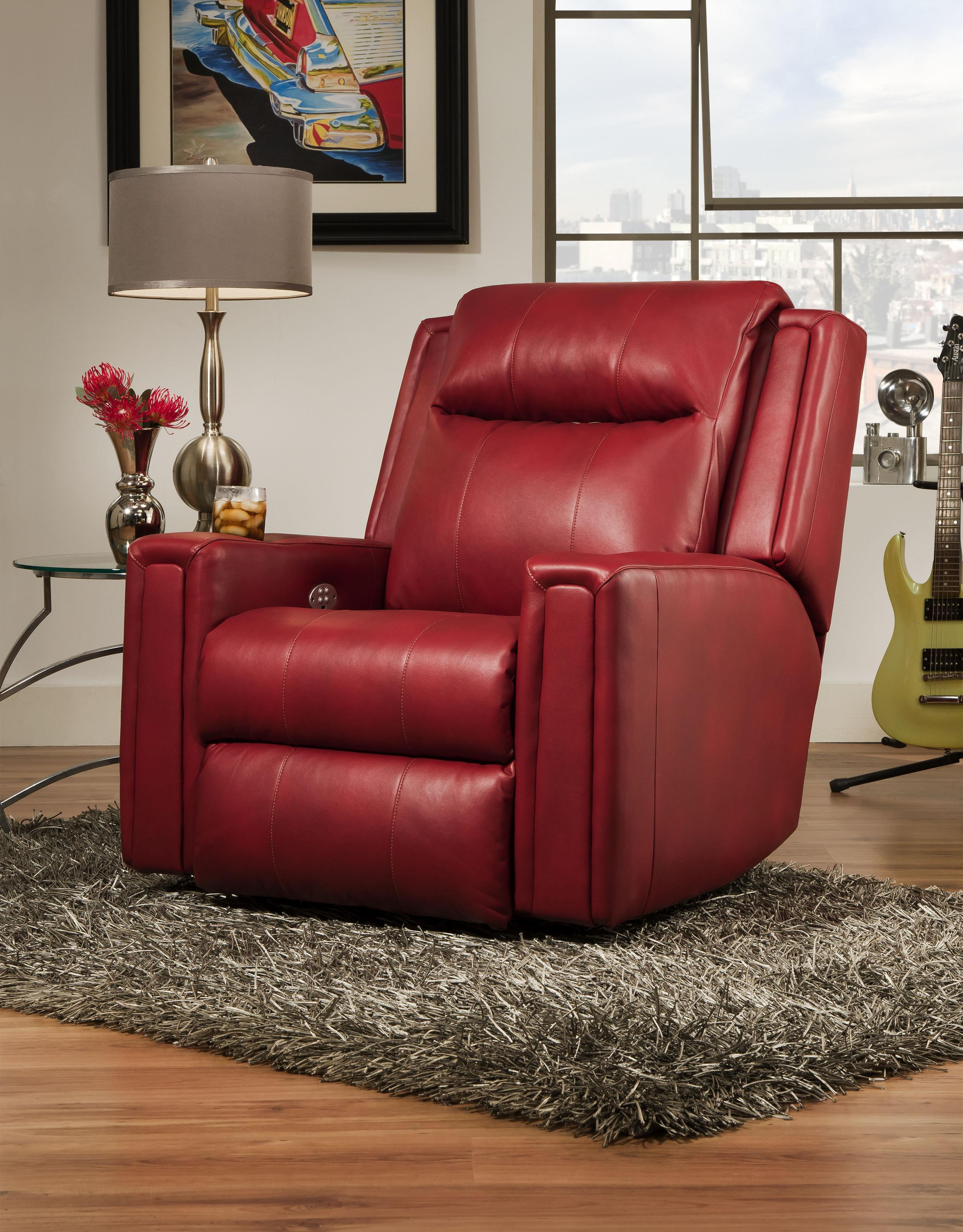 Southern Motion Curve Wall Hugger Recliner with Power Headrest - Item Number: 6858P-900-11
