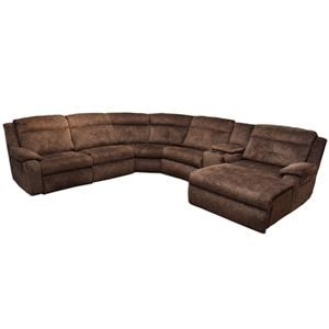 ComfortZone Dash  Reclining Sectional with Chaise and Console