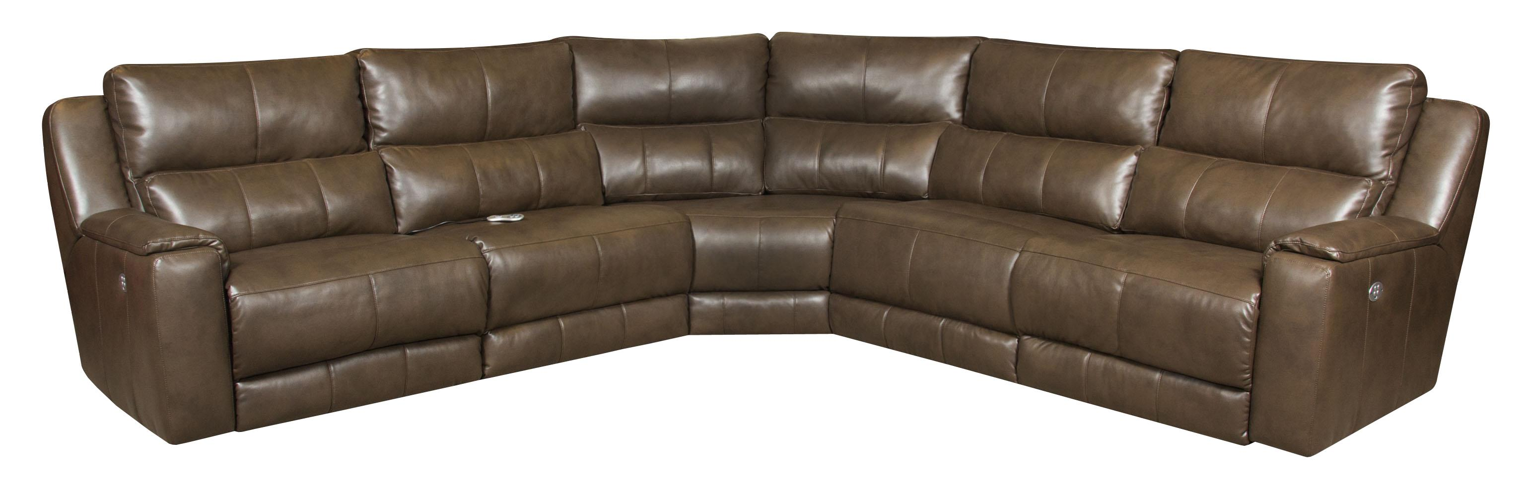 Southern Motion Dazzle Reclining Sectional with Power Headrests - Item Number: 883-05P+90P+84+90P+06P-243-21