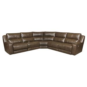 Belfort Motion Jax Reclining Sectional with Power Headrests