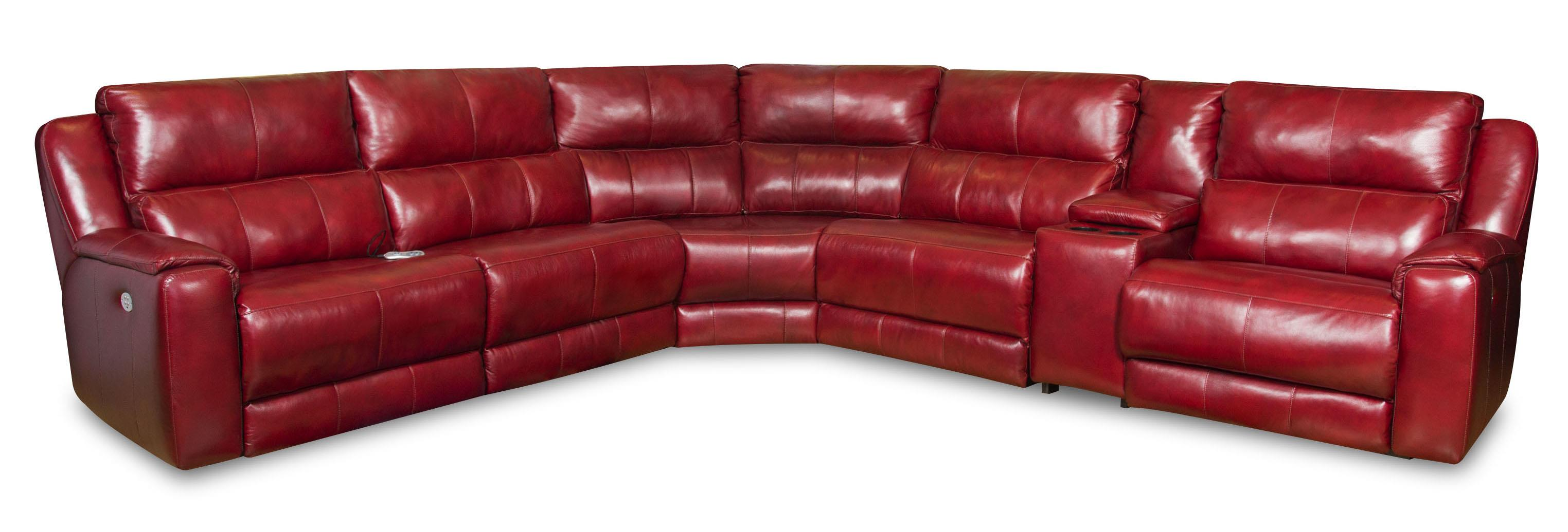 Dazzle Sectional w/ Cup Holders and Power Headrests by Southern Motion at Darvin Furniture