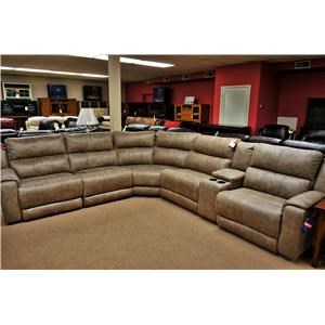 Southern Motion Dazzle Reclining Sectional with Power Headrests