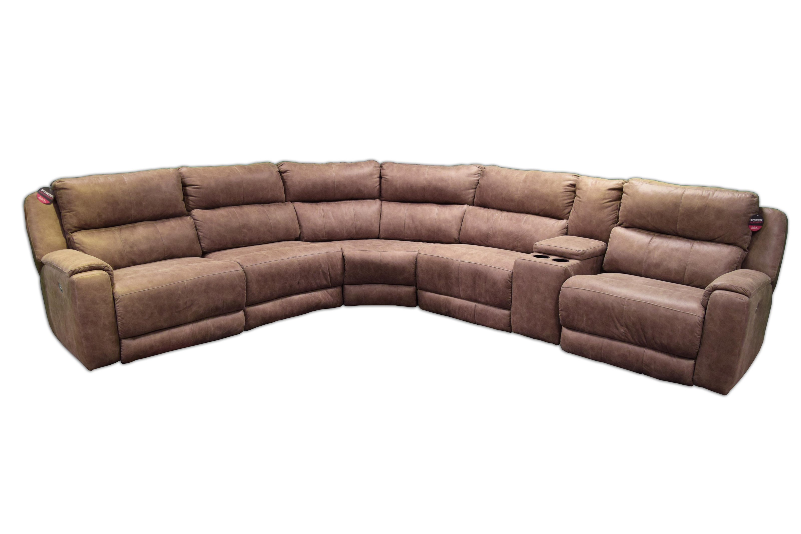 ComfortZone Dazzle Sectional w/ Cup Holders and Power Headrests - Item Number: 883-05P+92+84+92+47+06P-906-42