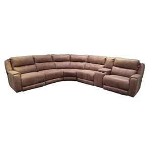 ComfortZone Dazzle Sectional w/ Cup Holders and Power Headrests