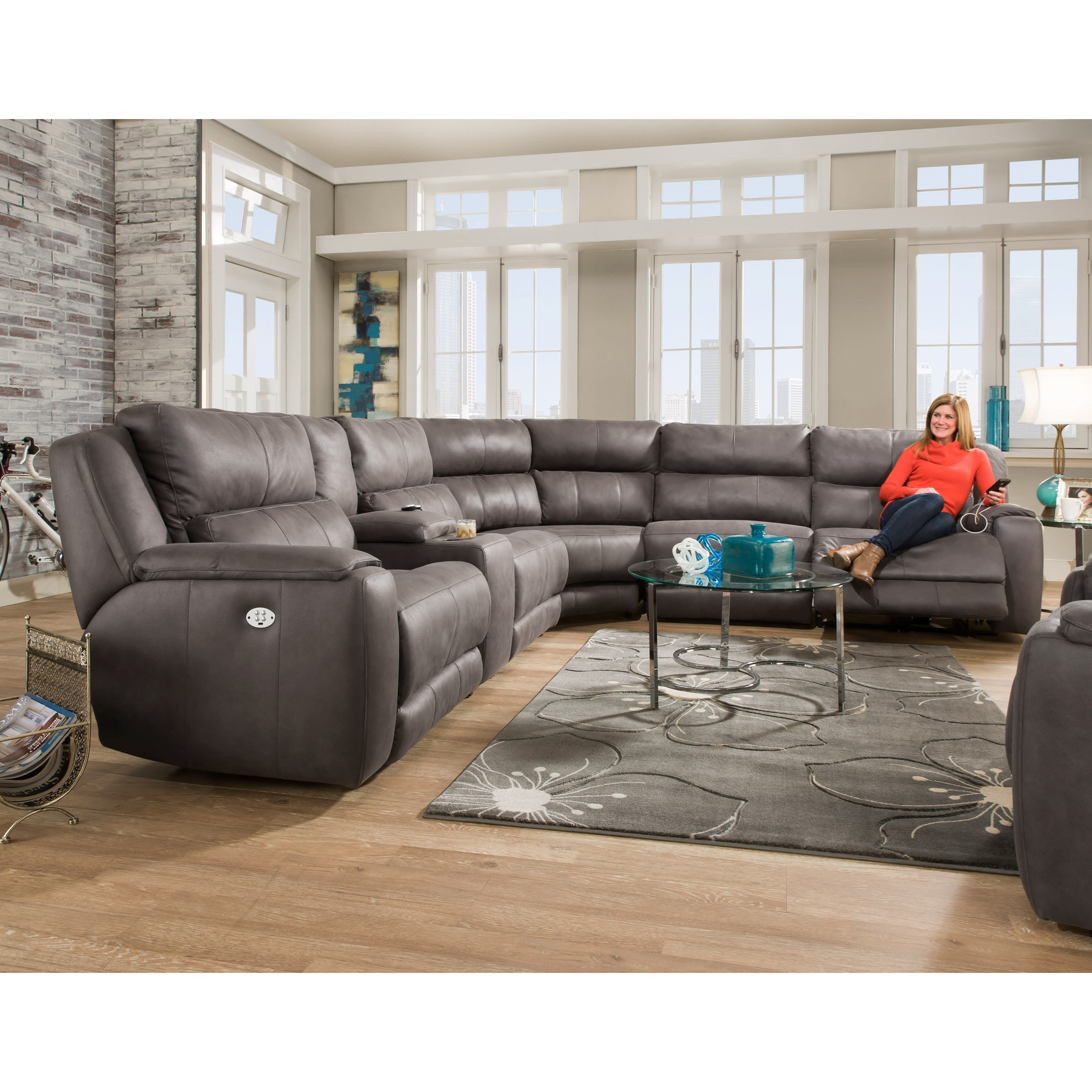 plus reclining sectional sofa