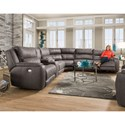 Southern Motion Dazzle Power Plus Reclining Sectional Sofa - Item Number: 883-07PLUS+47+90P+84+80+08PLUS-186-