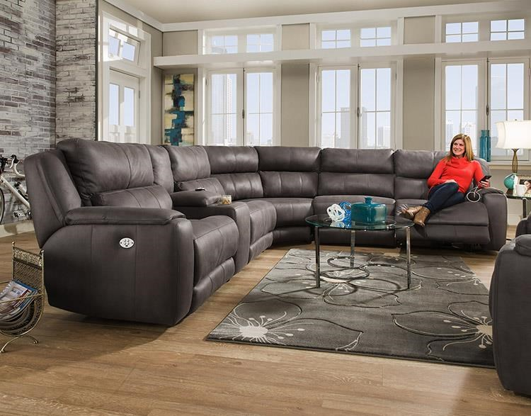 Sectional w/ Cup Holders and Power Headrests