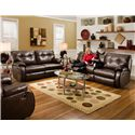 Belfort Motion Jordan <b>Power</b> Reclining Console Sofa
