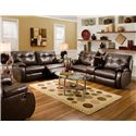 Southern Motion Dodger Reclining Console Sofa - Shown with Coordinating Reclining Sofa