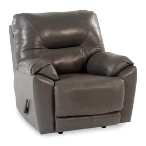 Design to Recline Manteo Leather Rocker/Recliner