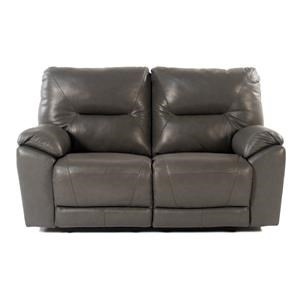 Design to Recline Manteo Double Reclining Leather Loveseat