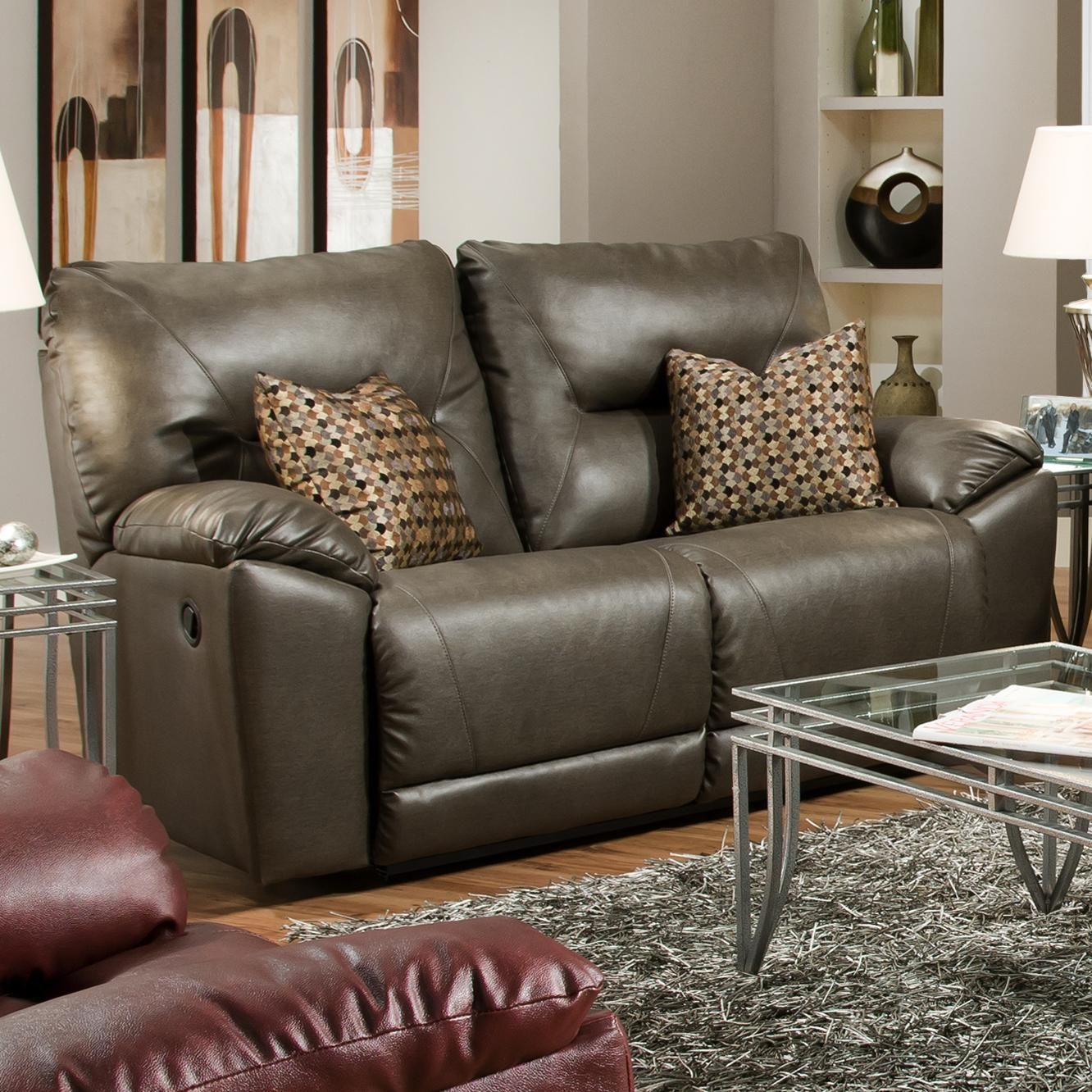 Southern Motion Dynamo Double Recl. Rocking Loveseat w/ 2 Pillows - Item Number: 590-42