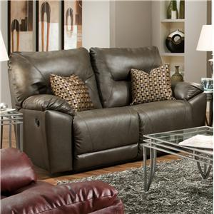 Southern Motion Dynamo Double Recl. Rocking Loveseat w/ 2 Pillows