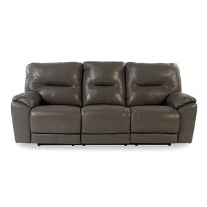 Design to Recline Manteo Double Reclining Leather Sofa